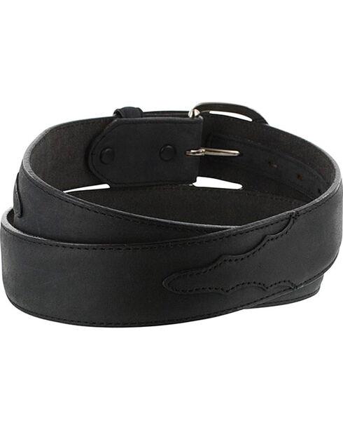 Cody James Men's Black Leather Overlay Belt, Black, hi-res