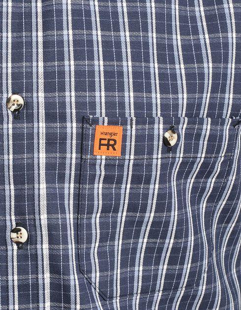 Wrangler Flame Resistant RIGGS Work Shirt, Blue, hi-res