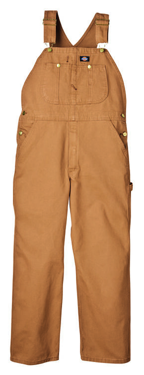 Dickies Duck Bib Overalls - Big and Tall, Brown Duck, hi-res