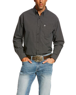 Ariat Men's Carolla Print Long Sleeve Western Shirt, Navy, hi-res