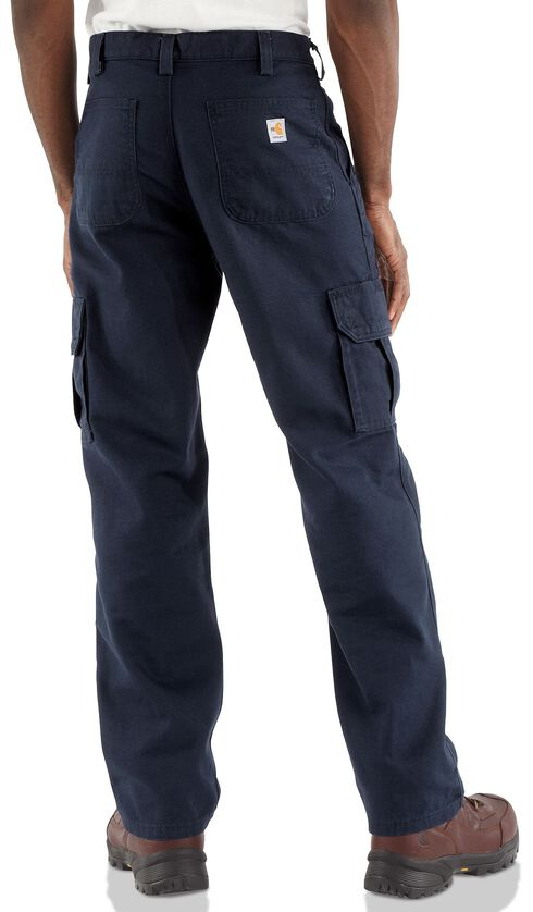 Carhartt Flame Resistant Canvas Cargo Pants - Big & Tall, Navy, hi-res