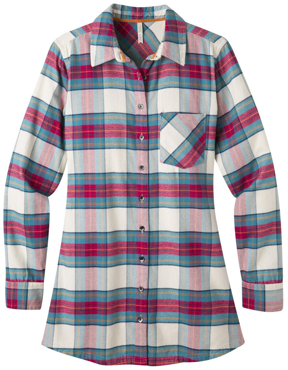 Mountain Khakis Women's Penny Plaid Tunic Shirt, Cream, hi-res