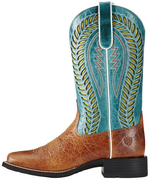 Ariat Women's Brown Quickdraw Venttek Boots - Wide Square Toe, Brown, hi-res