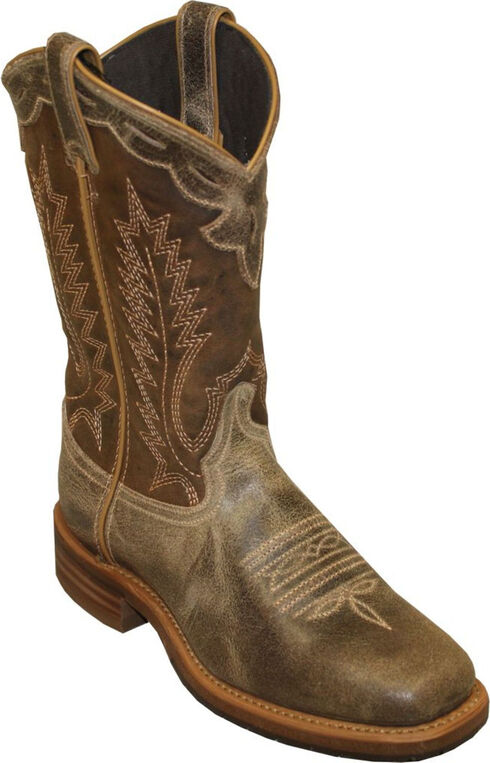 Abilene Dakota Western Cowboy Boots - Sqaure Toe, Cafe, hi-res
