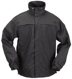 5.11 Tactical Men's TacDry Rain Shell, Black, hi-res
