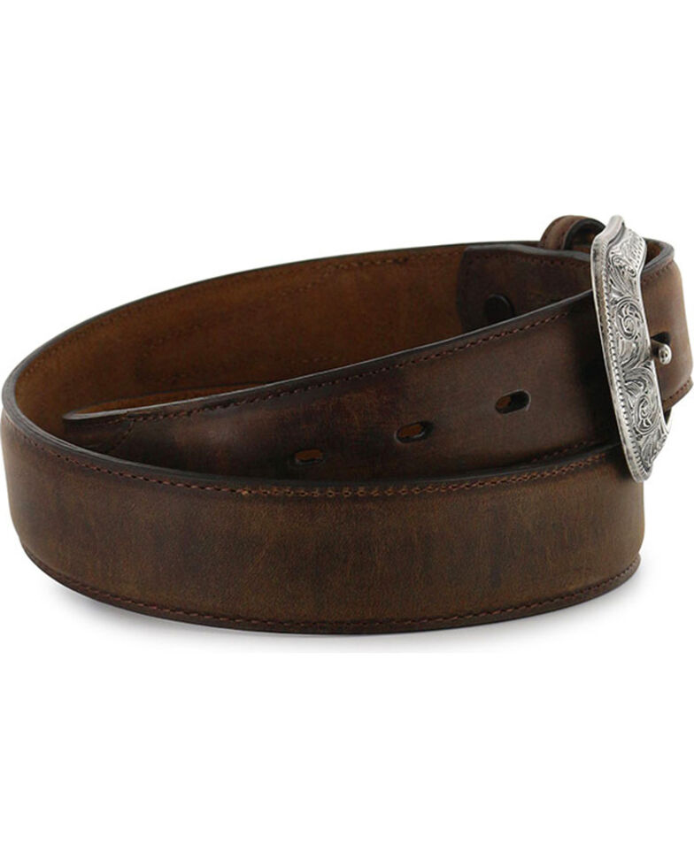 "3D Men's 1 1/2"" Brown Genuine Leather Belt, Brown, hi-res"