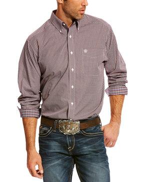 Ariat Men's Maroon Zerman Print Shirt , Maroon, hi-res