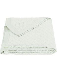HiEnd Accents Diamond Pattern Seafoam Linen Full/Queen Quilt, Green, hi-res