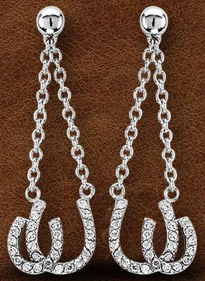 Kelly Herd Sterling Silver Double Horseshoe Earrings , Silver, hi-res