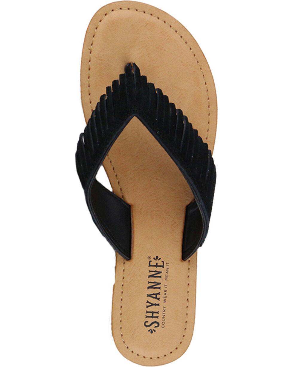 Shyanne Women's Suede Fringe Sandal, Black, hi-res