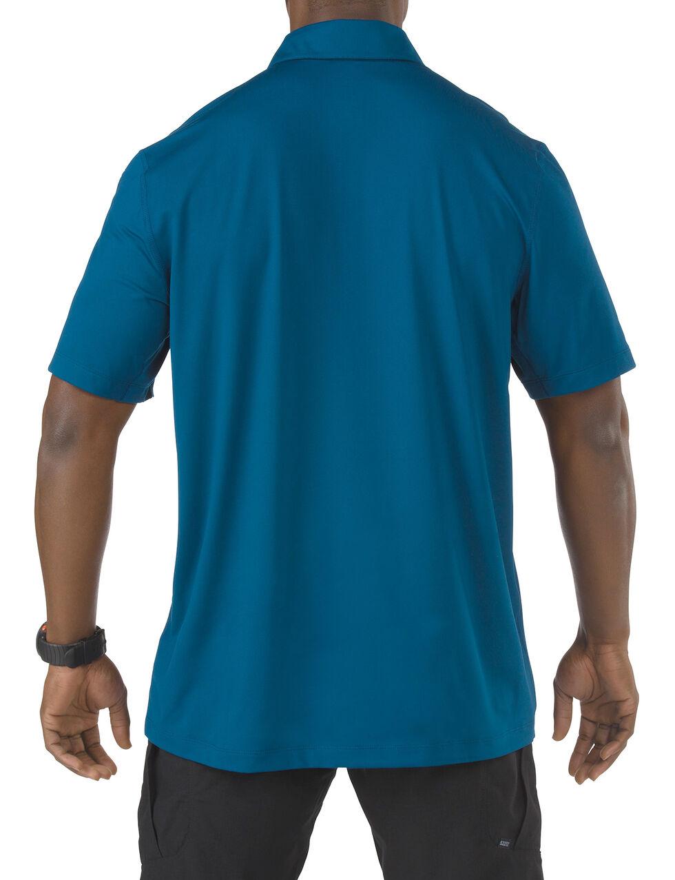 5.11 Tactical Odyssey Short Sleeve Polo Shirt, Blue, hi-res