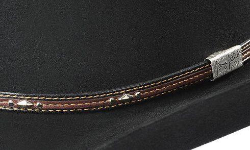 Resistol George Strait Kingman 6X Fur Felt Cowboy Hat, Black, hi-res