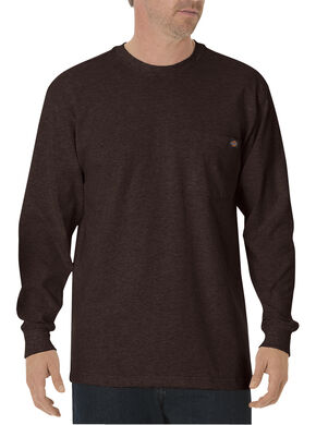 Dickies Men's Long Sleeve Heavyweight Crew Neck Tee , Chocolate, hi-res