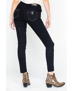 Shyanne Women's Skinny Mid Rise Jeans, Black, hi-res