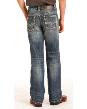 Rock & Roll Cowboy Boys' Indigo (7-20) Stitched Jeans - Boot Cut, Indigo, hi-res