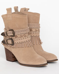 Shyanne Womens Ankle Strap Suede Booties