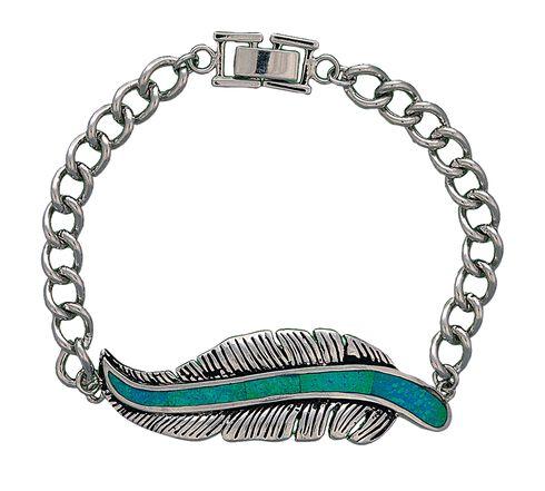 Montana Silversmiths Feather Chain Bracelet, Silver, hi-res