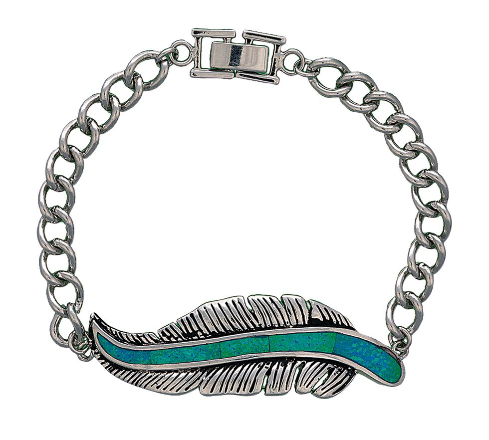 Montana Silversmiths Feather Chain Bracelet, Silver, hi-res