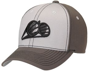 Double Barrel Logo Cap, Grey, hi-res