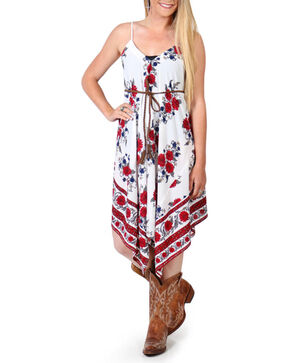 Shyanne Women's Floral Asymmetrical Dress , Multi, hi-res