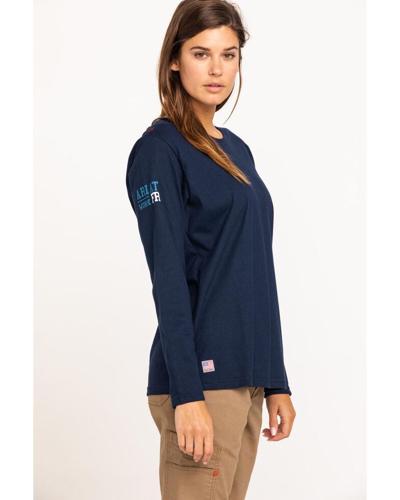Ariat Women's Navy America Graphic FR T-Shirt , Navy, hi-res