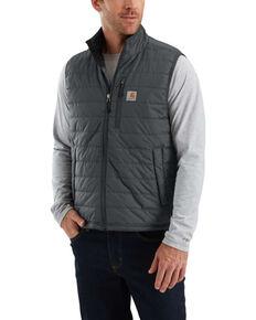 Carhartt Men's Gilliam Work Vest - Tall , Grey, hi-res