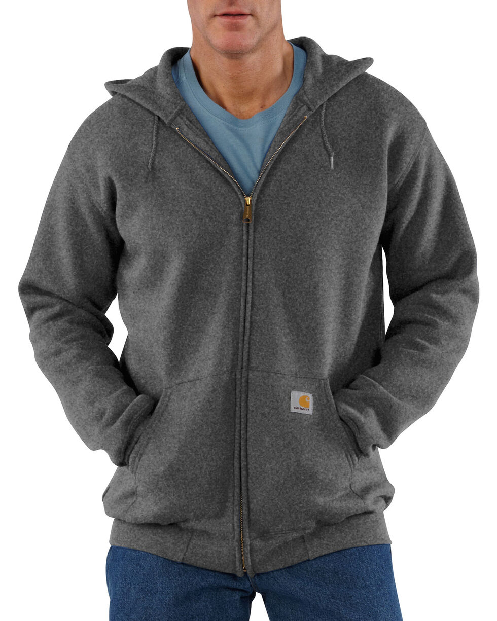 Carhartt Men's Hooded Zip Hoodie - Big & Tall, Charcoal Grey, hi-res