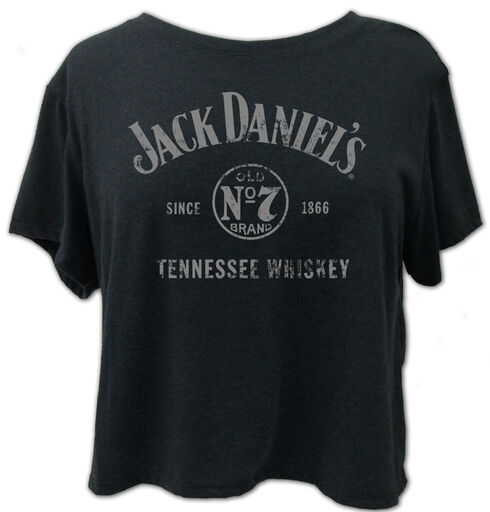 Jack Daniel's Women's Tennessee Whiskey Crop Tee , Grey, hi-res