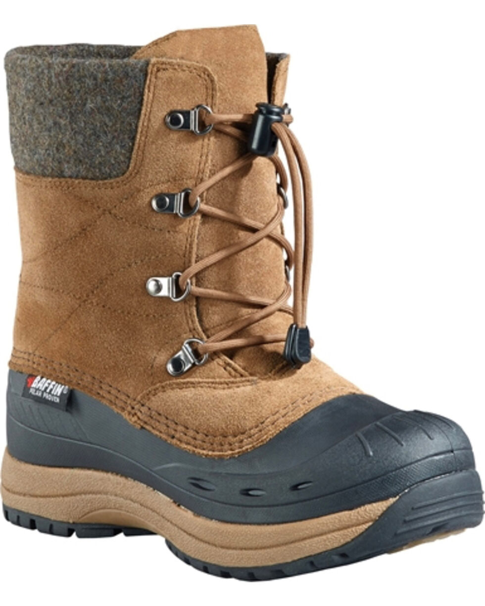 Baffin Women's Arnaq Waterproof Suede Rubber Shell Winter Boots , Sand, hi-res