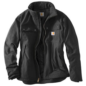 Carhartt Quick Duck Jefferson Traditional Jacket - Big and Tall, Black, hi-res