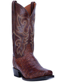 Dan Post Men's Bayou Western Boots - Square Toe, Brown, hi-res
