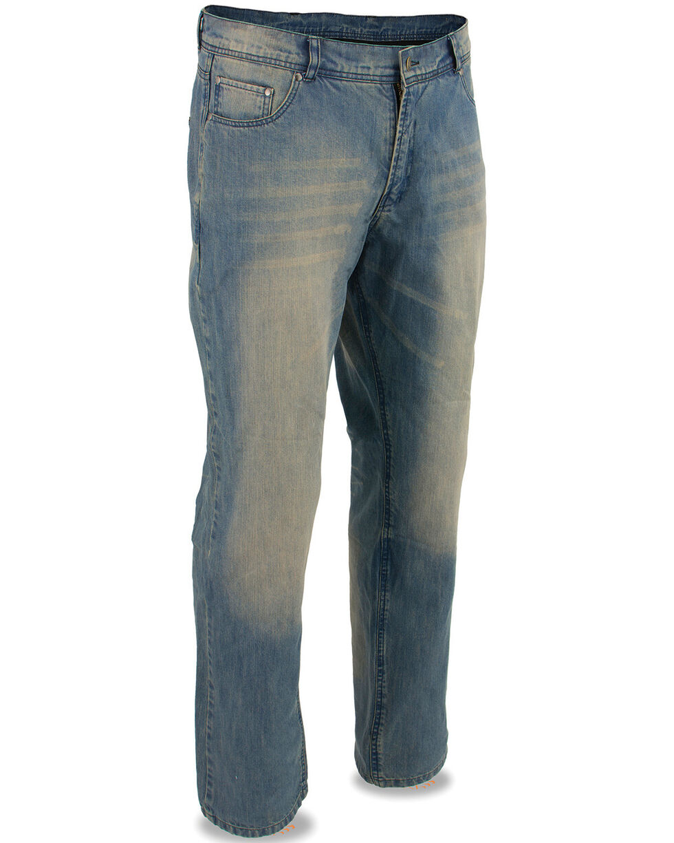 """Milwaukee Leather Men's Blue 34"""" Denim Jeans Reinforced With Aramid, Blue, hi-res"""