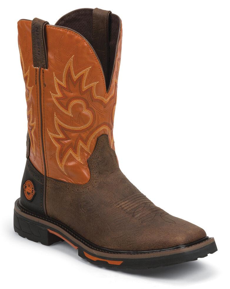 Justin Men's Joist Rustic Brown Electrical Hazard Work Boots - Soft Toe, Brown, hi-res