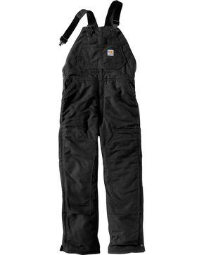Carhartt Flame Resistant Bib Work Overalls, Black, hi-res