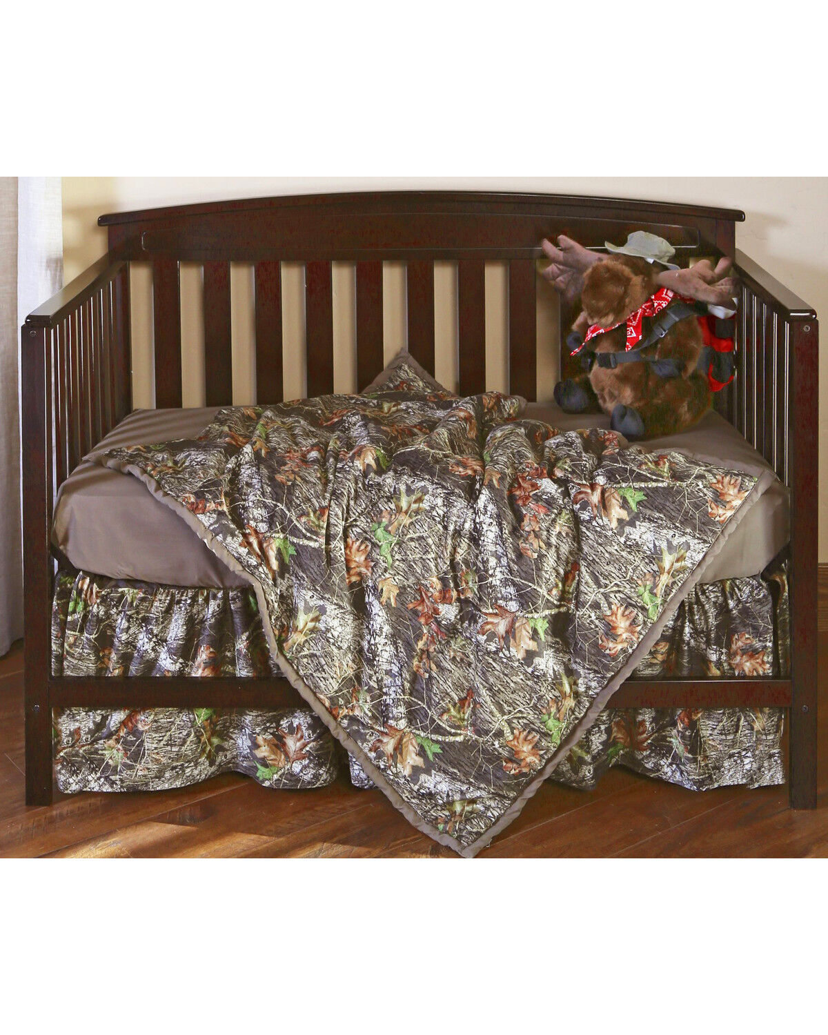 Carstens Mossy Oak Break Up Camo Crib Set   3 Piece , Green, Hi