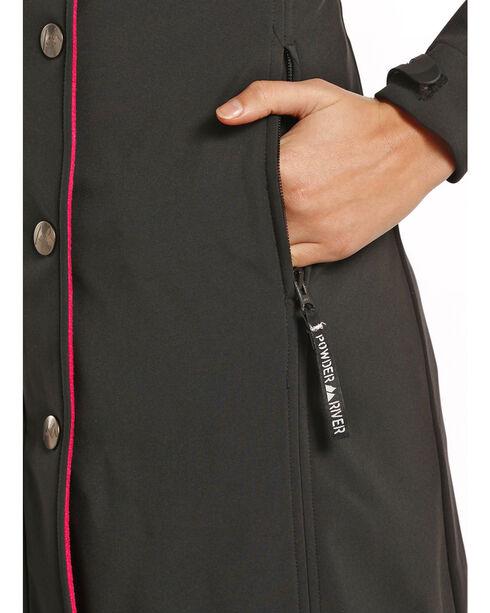 Powder River Outfitter Women's Black Splitrail Softshell Coat , Black, hi-res