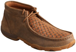 Twisted X Women's Bomber Brown & Tan Lace-Up Driving Mocs, Brown, hi-res