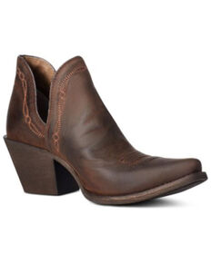 Ariat Women's Brown Encore Fashion Booties - Snip Toe, Brown, hi-res