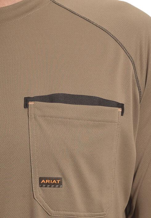 Ariat Men's Rebar Sun Stopper Long Sleeve Shirt , Brown, hi-res