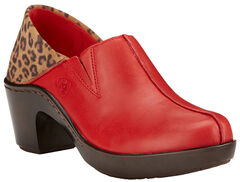 Ariat Women's Chii Red Kickback Clogs , Red, hi-res