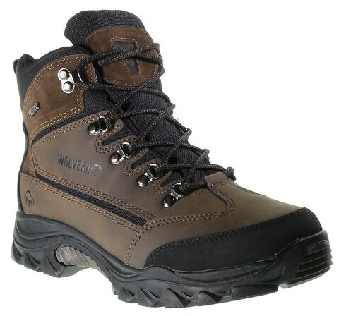 Wolverine Spencer Waterproof Lace-Up Hiking Boots - Round Toe, Brown, hi-res