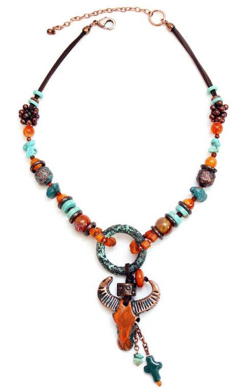Treska Women's Santa Fe Beaded Pendant Necklace , Multi, hi-res