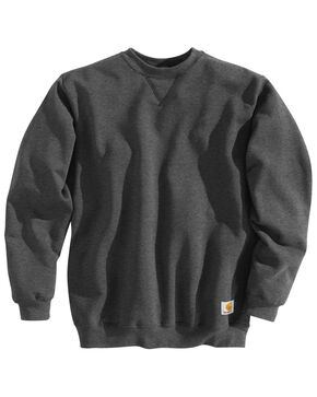 Carhartt Midweight Crew Neck Sweatshirt, Charcoal, hi-res