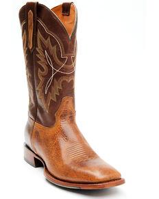 Cody James Men's Stuart Western Boots - Wide Square Toe, Brown, hi-res