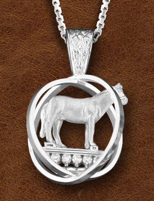 Kelly Herd Women's Sterling Silver Small World Trophy Necklace, Silver, hi-res
