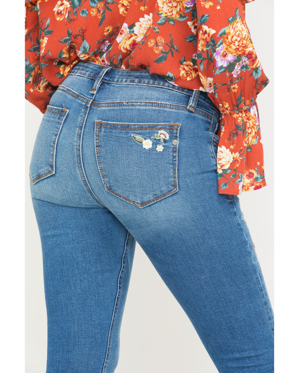 Miss Me Women's Freshly Picked Mid-Rise Skinny Jeans , Indigo, hi-res