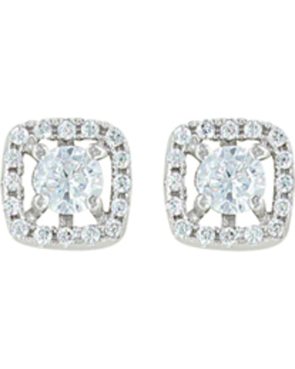 Montana Silversmiths Women's Boxed Star Earrings , Silver, hi-res