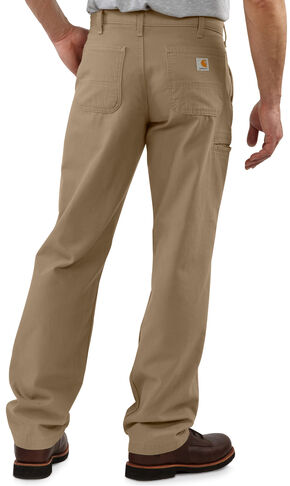 Carhartt Khaki Canvas Work Pants, Khaki, hi-res