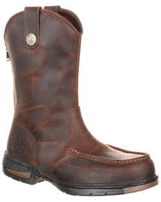 Georgia Boot Men's Athens Western Work Boots - Moc Toe, Brown, hi-res