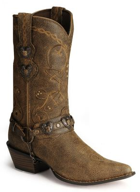 Durango Crush Heart Harness Boots, Brown, hi-res